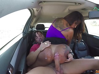 MILF Candy loves animal brutally penetrated in the motor