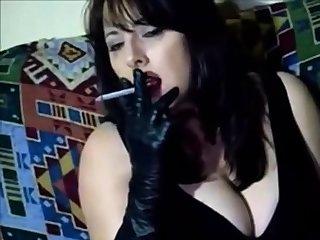 leather glove smoking