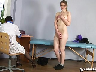 Doll Gynecologist Physician Turns Tall Woman To Lesbo Activity