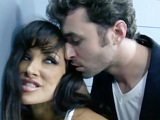 Extreme interrogation with a dark-haired busty MILF