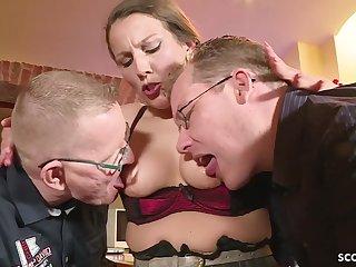 GERMAN BIG TIT housewife SEDUCE HAVE INTERCOURSE ASSFUCKING IN BIG MALE STICK TRIO