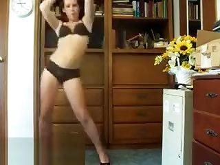 Sexy Girl Dancing In Her Underwear