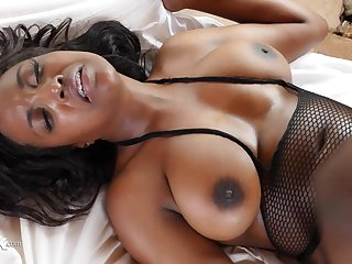Smoking hot ebony spreads her legs wide for Danny's prick