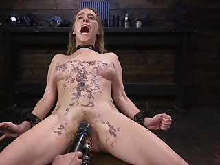 Painfull and rough torture and abuse for Cadence Lux in bondage