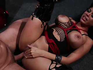 Nasty BDSM sex scene where Mature woman Luna Star gets tortured