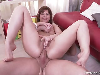This chick's ass is a nice round target and this nympho loves anal sex