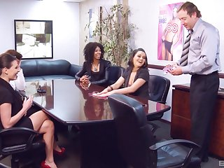 Erotic sex games lead to nice fucking on the office table. HD