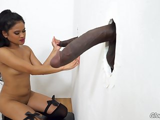 Filipina babe Violet Rae taking so much cock and she loves glory holes