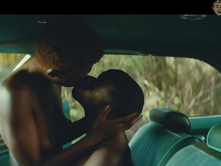 Steamy car love scene with such a gorgeous looking hottie Elle Fanning