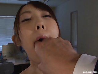 Small tits Mai Usami spreads her legs to be fucked balls deep