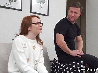 Fucking between a handsome dude and cock hungry redhead Ami Calienta