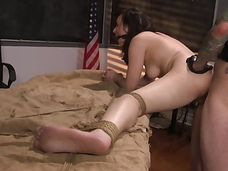 Master wants to bang both her moist pussy and tight butt