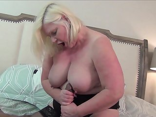 Black dude with a large dick fucks chubby mature Lacey Starr