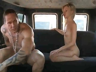 Russian ho gets her coochie rammed stiff after deepthroating rod in the back of the van