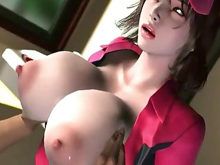 Gorgegeos babes with huge naturals milking dicks with their big boobs