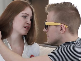 Redhead Lana can't wave to try out Kamasutra with her girl Friday