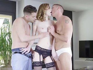 Belle Claire is a think and sexy lingerie model