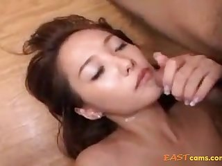 Fur Covered Crevasse Korean Honey Providing Her Moist Fuckbox To Beau