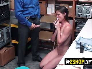 Sofie Marie is coerced by officer
