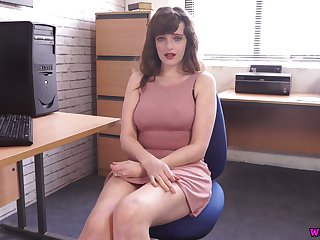 Mesmerizing busty whore with juicy rack Kate Anne wanna tickle her twat