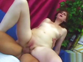 Slutty mature Jindra riding young cock like crazy