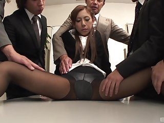 Ramu Nagatsuki wants to feel hard penis in her pussy after a sex toy