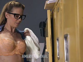 Nerdy submissive whore Cherie Deville is ready for hardcore treatment and BJ