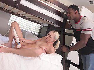 Black hunk suits sensual Chloe Temple with a lot of dick