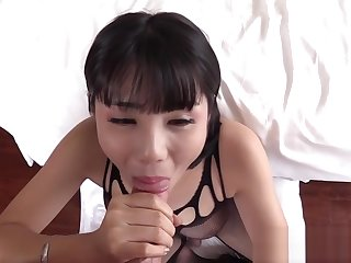 Horny shemale with big tits enjoyed a passion action