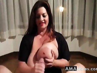 Maria Titty Fuck And Handjob