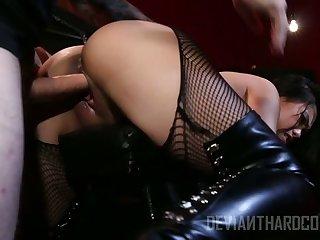Sexy and horny Vietnamese nympho Cindy Starfall is fucked doggy hard