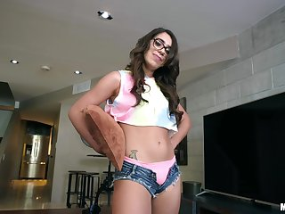 Joseline Kelly gets her unshaved pussy fucked and fingered by her lover