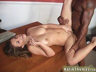 Cute girl feels entire BBC smashing her vag entirely