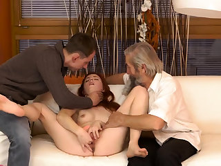 Hot blonde man Unexpected experience with an older