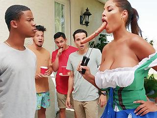Hardest Oktoberfest group sex for drunk wife